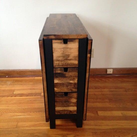IKEA Norden Gateleg Table with dark walnut stain