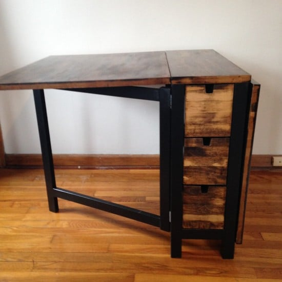 IKEA Norden Gateleg Table with dark walnut stain