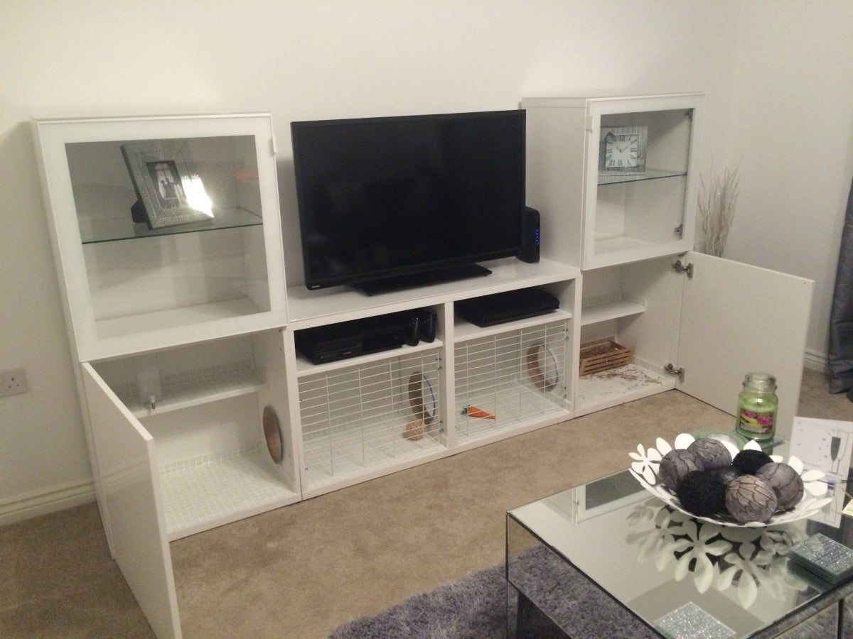 bunny hutch tv stand