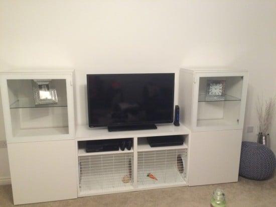 bunny hutch tv stand - IKEA BESTA hack