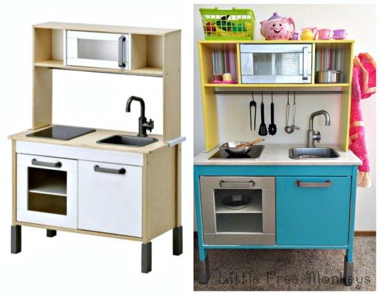 Ikea Duktig play kitchen makeover
