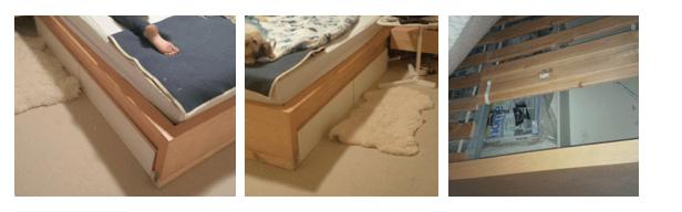 raise bed storage image 2 - Ikea Malm Beige