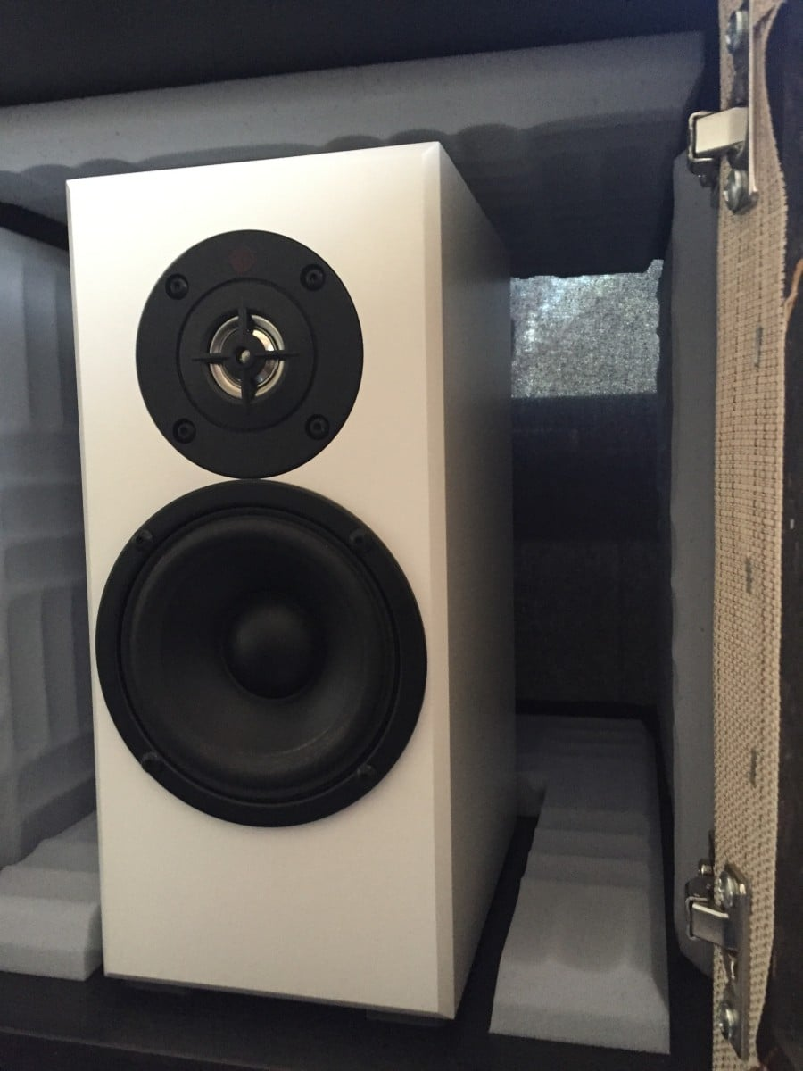 Speaker Cubby With Fabric Back