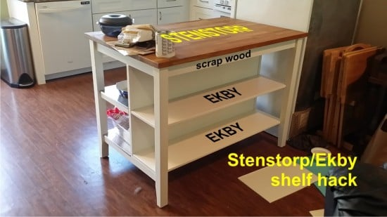 Adding shelves to IKEA stenstorp