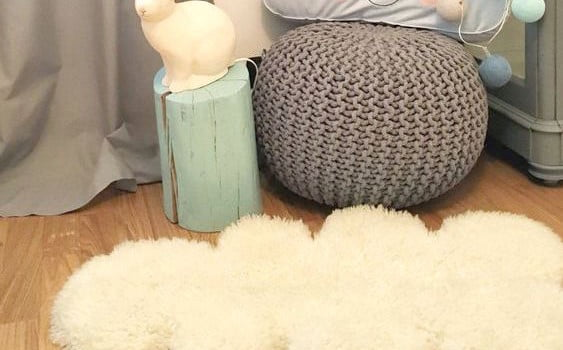 Easy Diy Cloud Sheep Rug Ikea Hackers Ikea Hackers