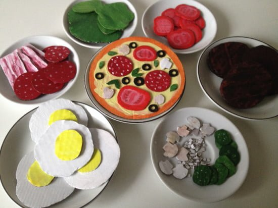 Play food from IKEA HEKTAR boxes