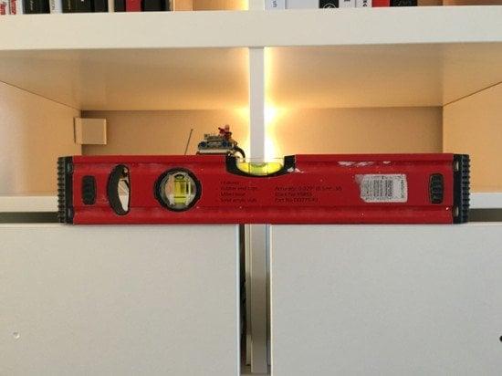 KALLAX drawer inserts modified to fill half a cube