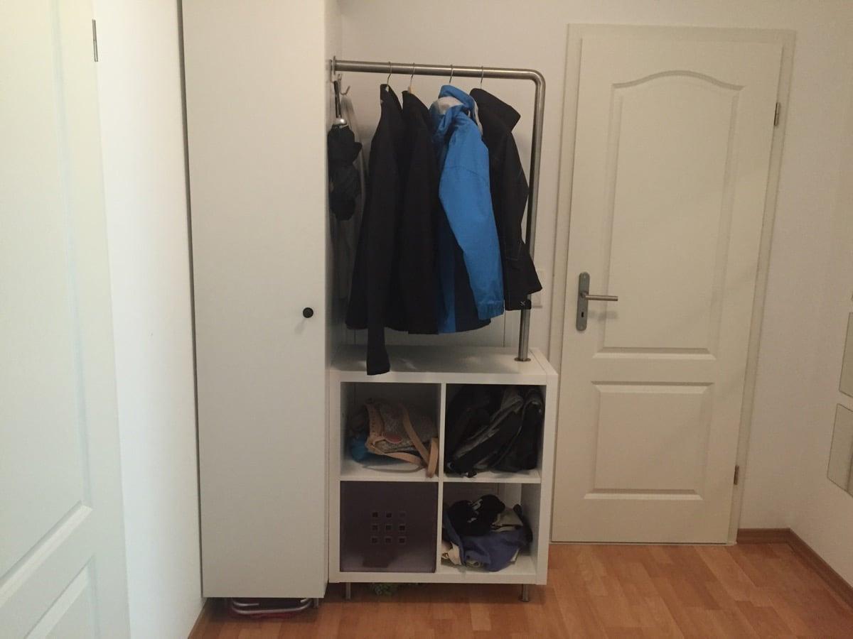 Bathroom Closet Shelving Ideas Kallax And Metod Micro Wardrobe Ikea Hackers Ikea Hackers