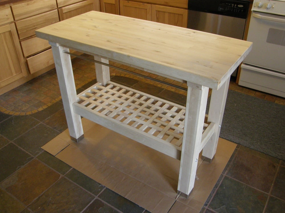 Here s a stone mosaic hack i performed on an ikea kitchen island