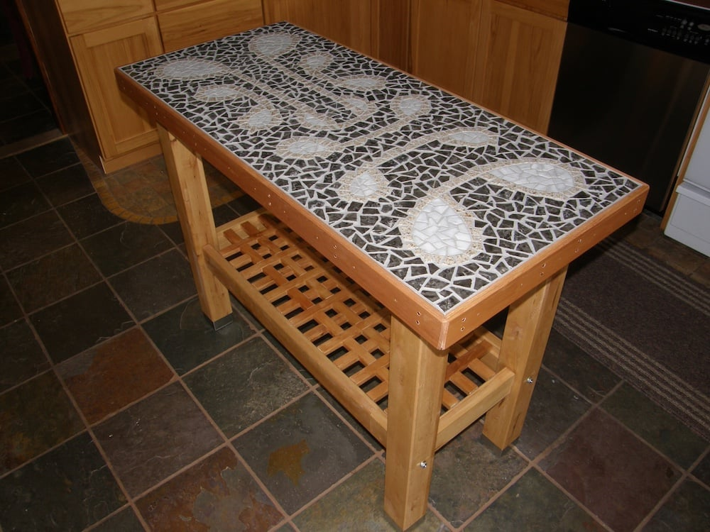 mosaic kitchen island ikea hackers
