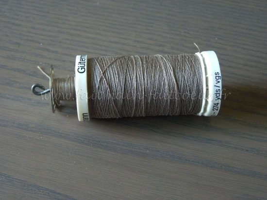 Thread and bobbin held together