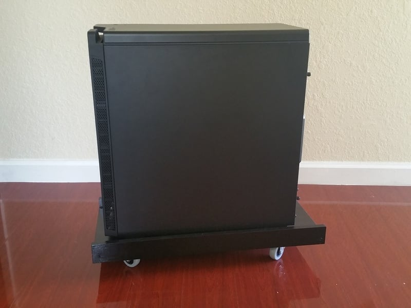 CPU stand that looks made for IKEA desks