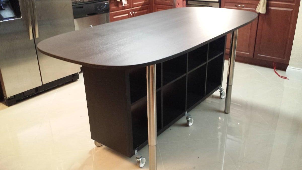 Kat 39 s kallax kitchen island ikea hackers ikea hackers - Table a roulettes ikea ...