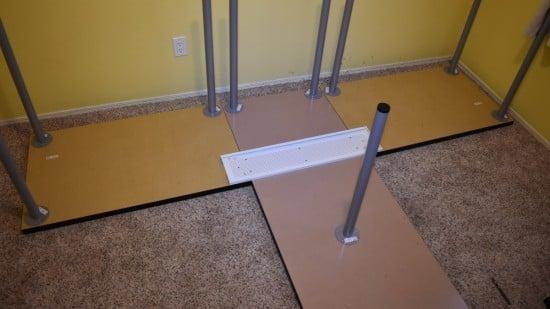 TShaped Partner Desk from IKEA parts