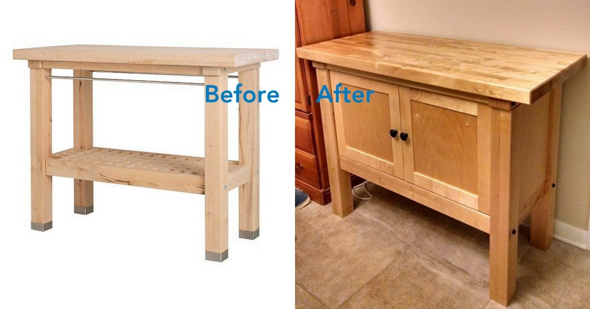Ikea Groland Kitchen Island Hack