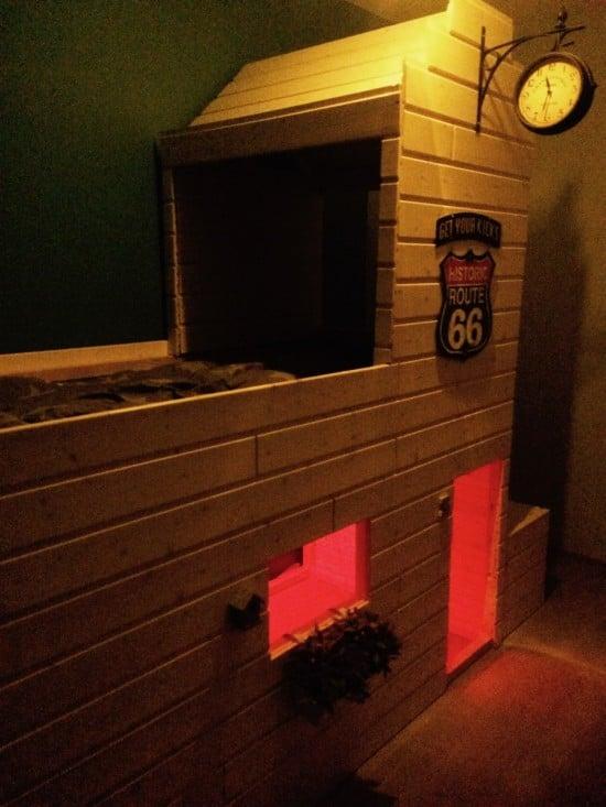 IKEA KURA to DIY Radiator Springs House bunkbed