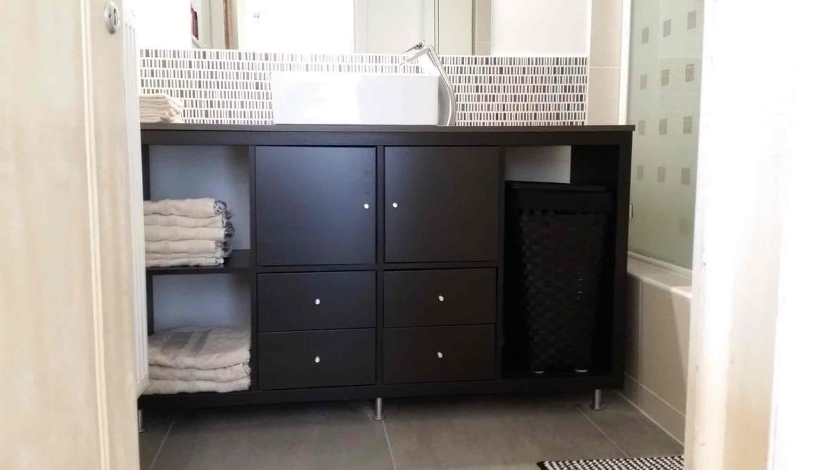 Kallax Bathroom Vanity For Small Bathroom Ikea Hackers