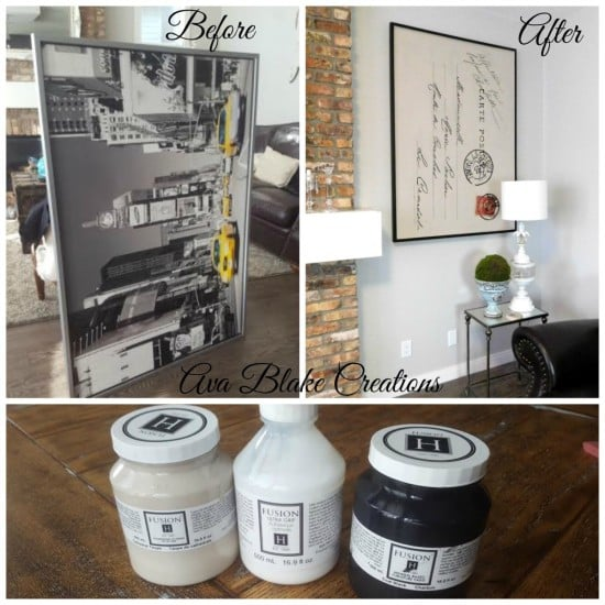 IKEA wall art to French Letter hack