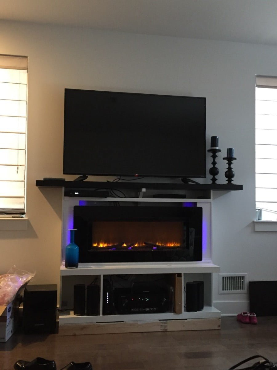Custom Built In Fireplace Surround With Mantel