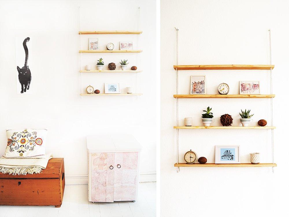 a hanging rope shelf ikea hackers. Black Bedroom Furniture Sets. Home Design Ideas