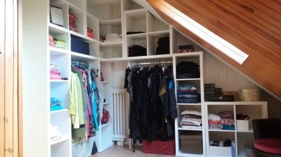 Kallax corner wardrobe for my bedroom ikea hackers ikea hackers - Dressing sous pente ikea ...