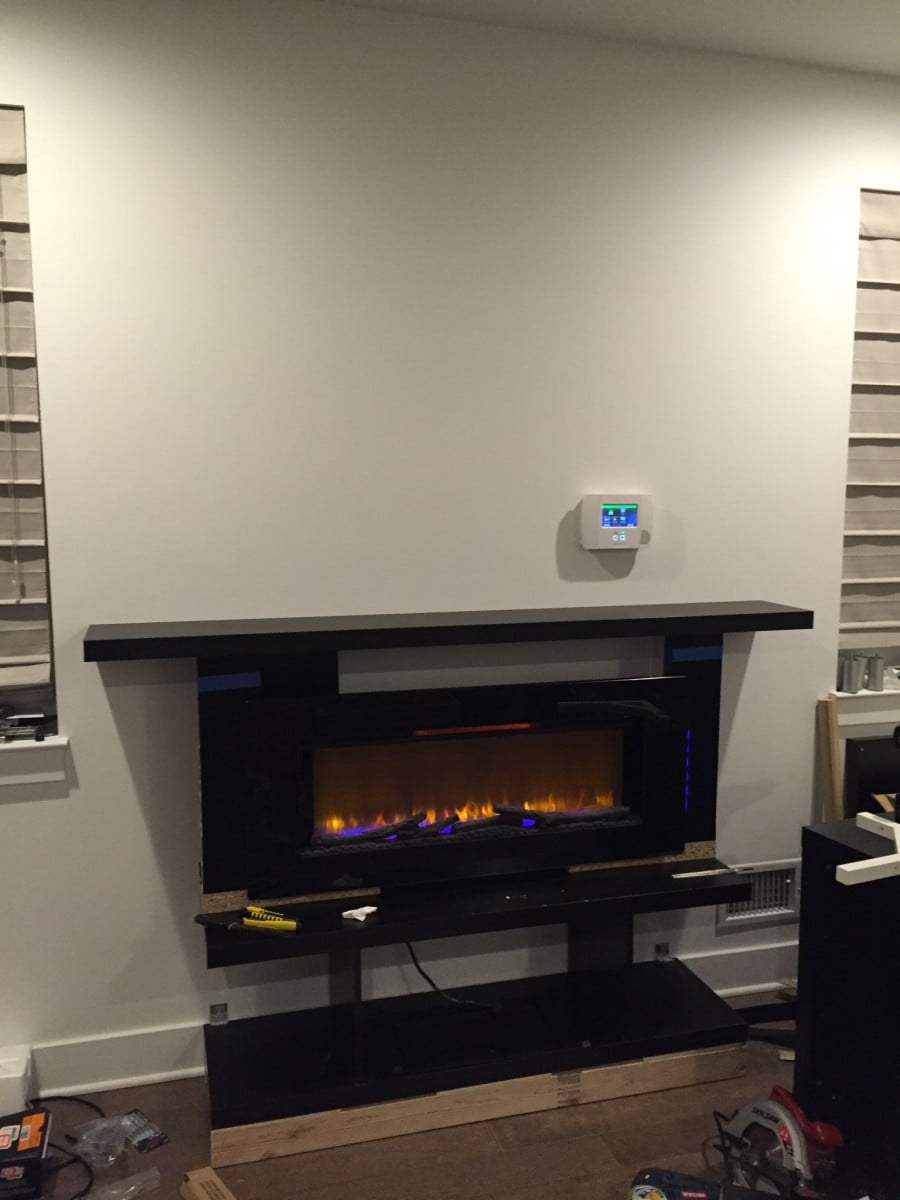 custom built in fireplace surround with mantel ikea
