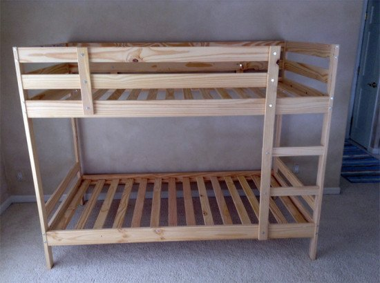 Cocoon mydal bunk bed with reading nook ikea hackers ikea hackers - Structure futon ikea ...