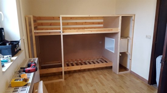 Assemble the bunk bed