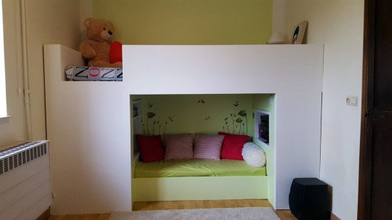 IKEA Mydal bunk bed with reading nook