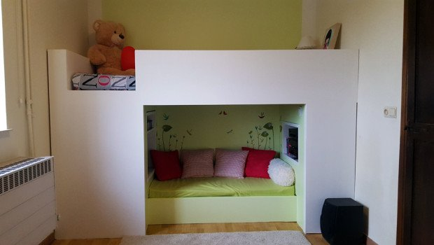 Cocoon Mydal Bunk Bed With Reading Nook Ikea Hackers