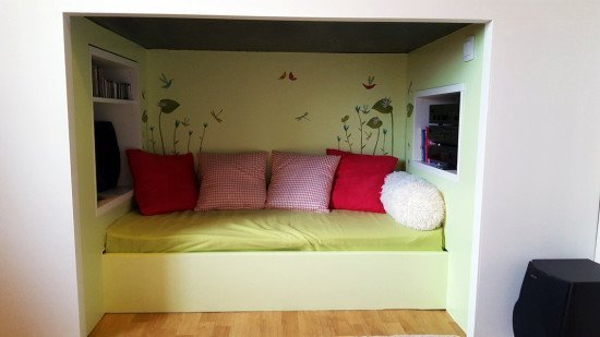 Mydal bunk bed with reading nook