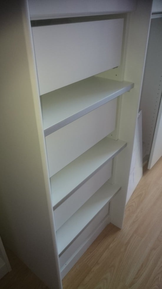 PIC OF LADDER WITH DRAWERS