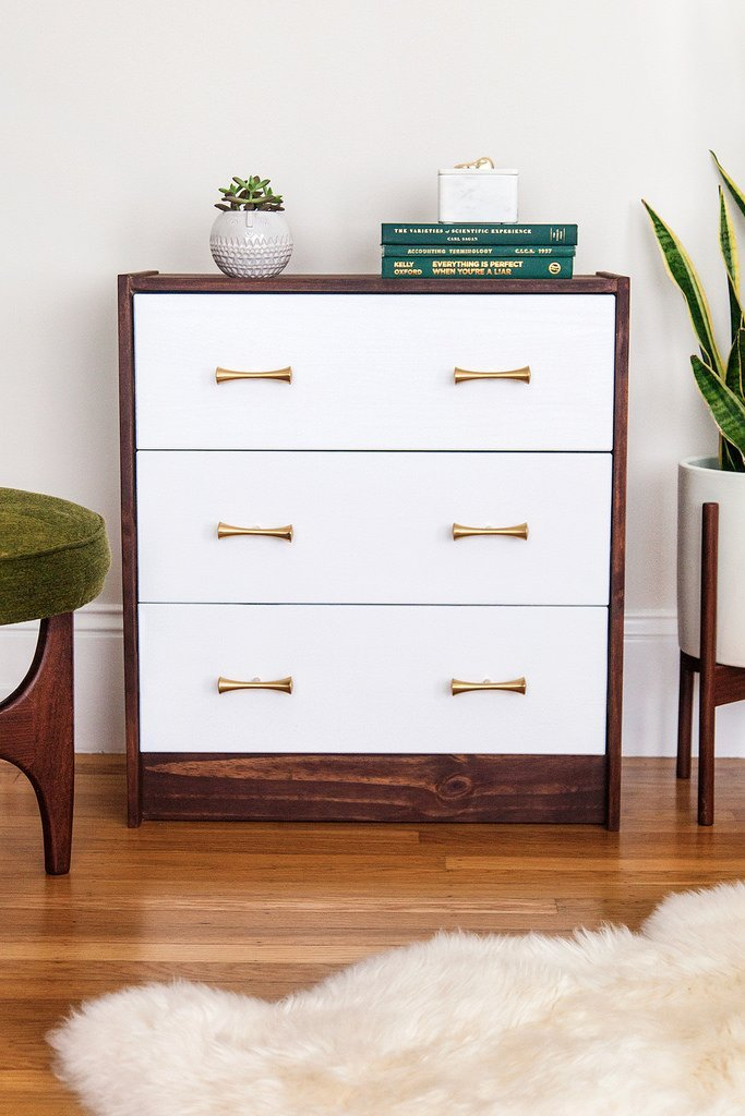 Simple rast dresser upgrade ikea hackers ikea hackers Living room shoe storage ideas