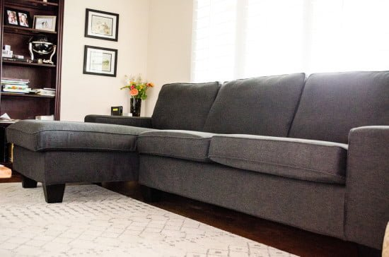 KIVIK sectional with new taller legs