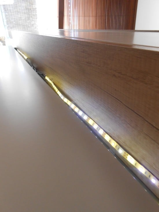 LED strips to light up the TV unit