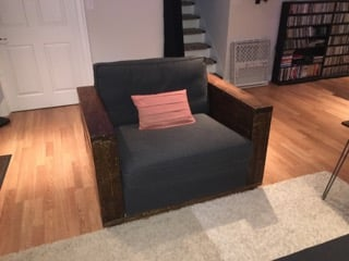 IKEA KIVIK one seater with DIY arms