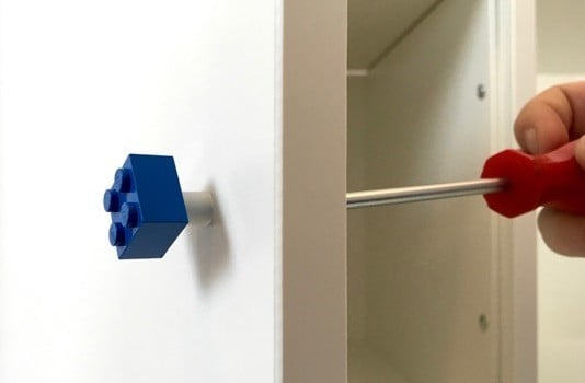 Lego Bricks As Door Or Drawer Knobs Ikea Hackers Ikea
