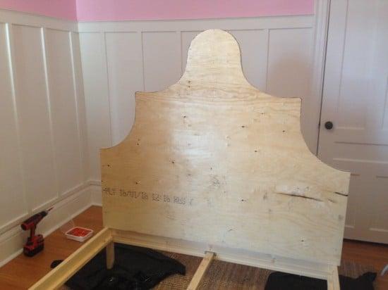 DIY princess bed headboard