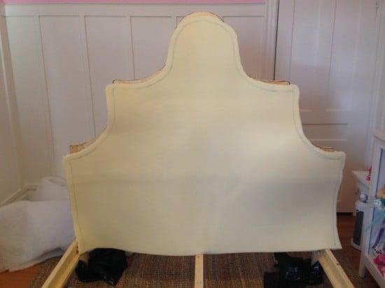 Outline foam batting for headboard
