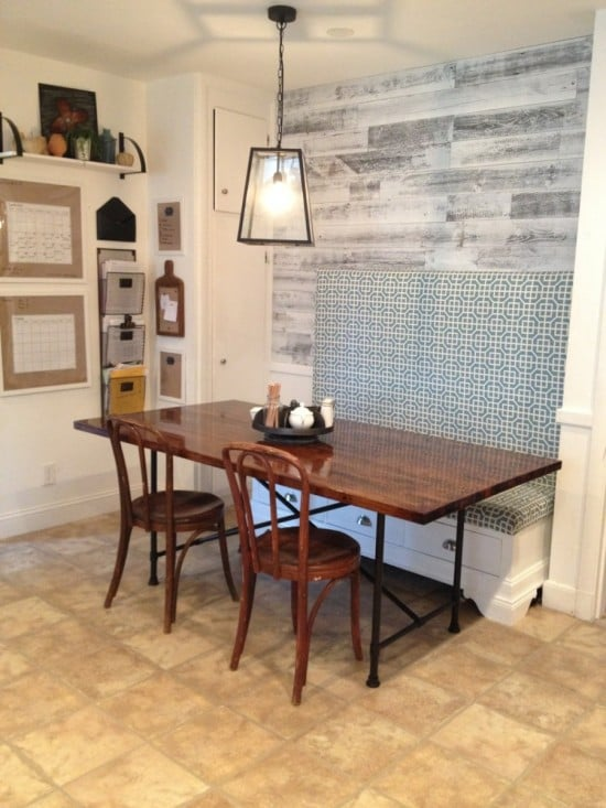 Rustic industrial butcher block table with metal base ikea hackers ikea hackers - Ikea rustic dining table ...