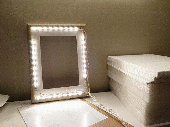 Light facing forward - bathroom vanity mirror with lights