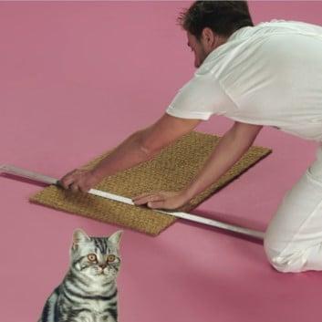 Cut door mat