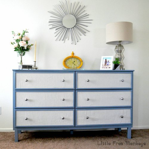 fabric panelled tarva dresser makeover