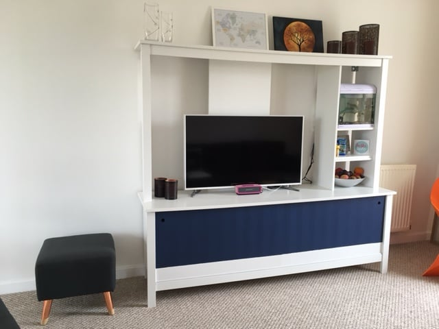Tomnas Tv Unit With Sliding Doors Ikea Hackers