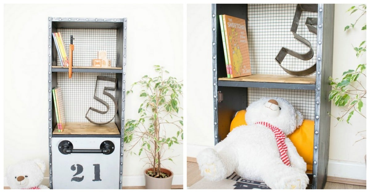 Industrial BILLY Bookcase With Hidden Murphy Bed For Teddy - IKEA Hackers -  IKEA Hackers