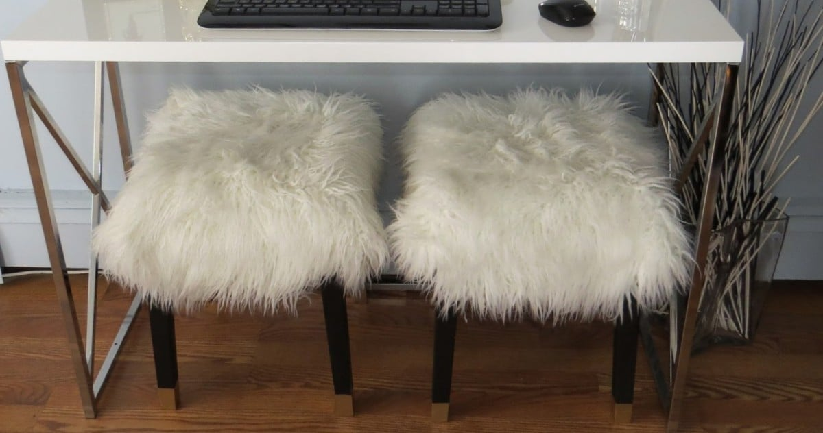 nils stool goes glam ikea hackers ikea hackers. Black Bedroom Furniture Sets. Home Design Ideas