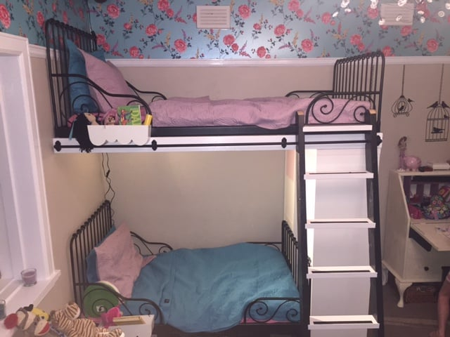 IKEA Minnen single beds into bunk beds with extras - IKEA