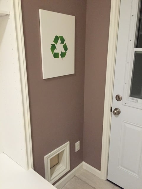 Recycling door