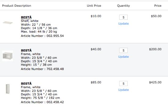 Besta prices in CAD