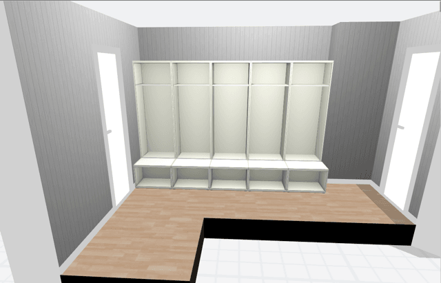 Designing The Large Mudroom Lockers On The IKEA BESTÅ Planner Part 48
